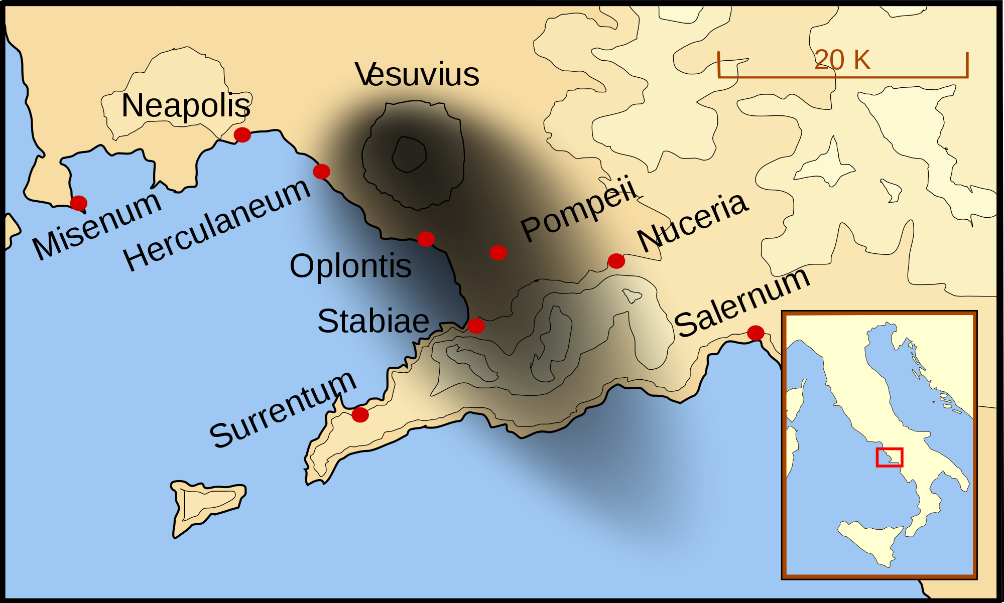 maps bay of naples Map Of Italy Naples And Pompeii bay of naples 79ad map of italy naples and pompeii