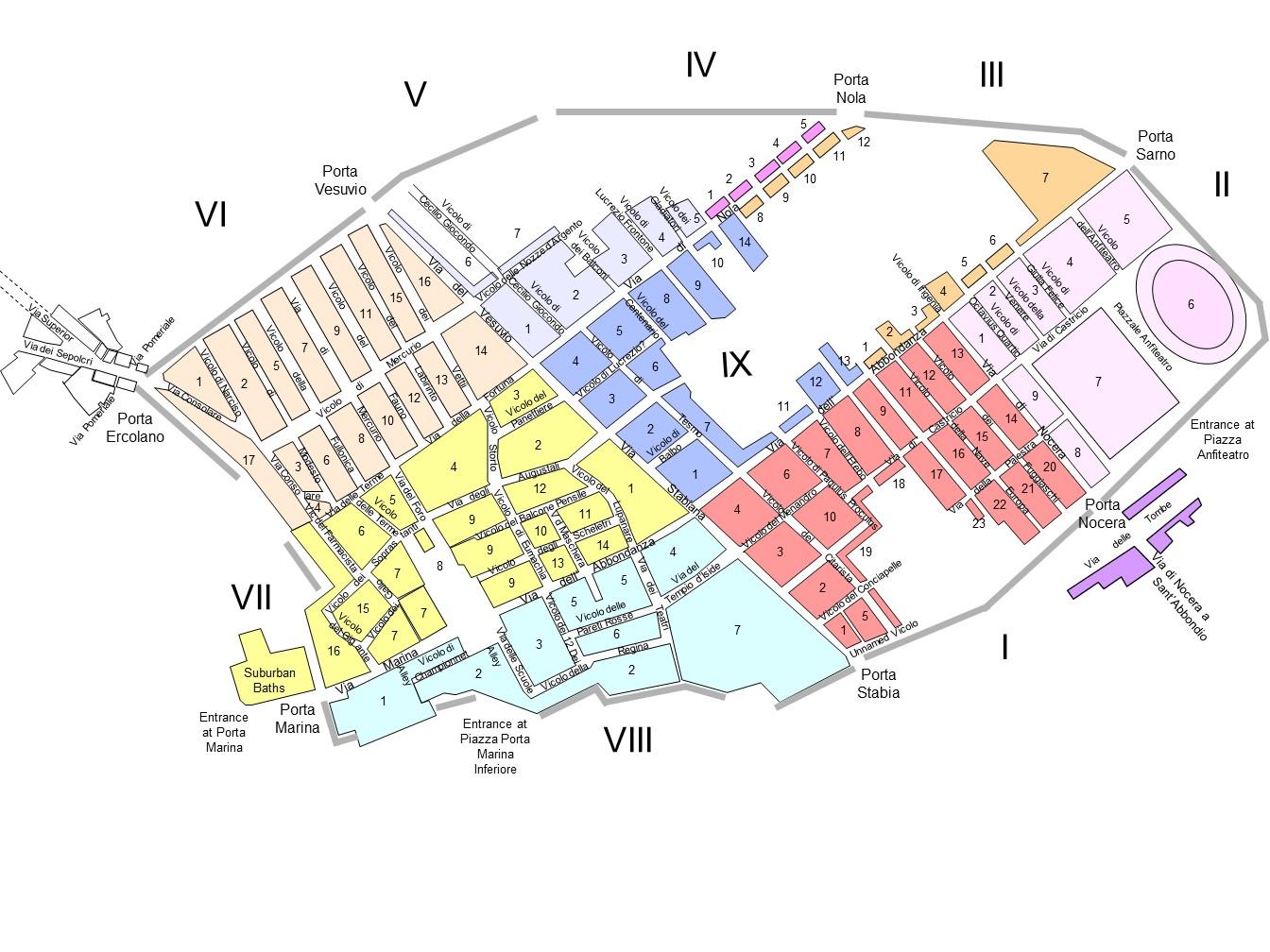Pompeii Street View Plan