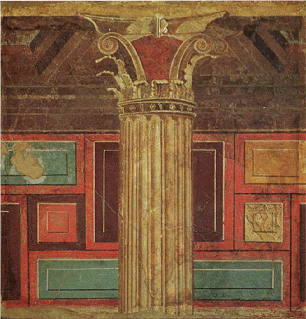 villa of p fannius synistor at boscoreale 1966 dressing room i of the large triclinium. Black Bedroom Furniture Sets. Home Design Ideas