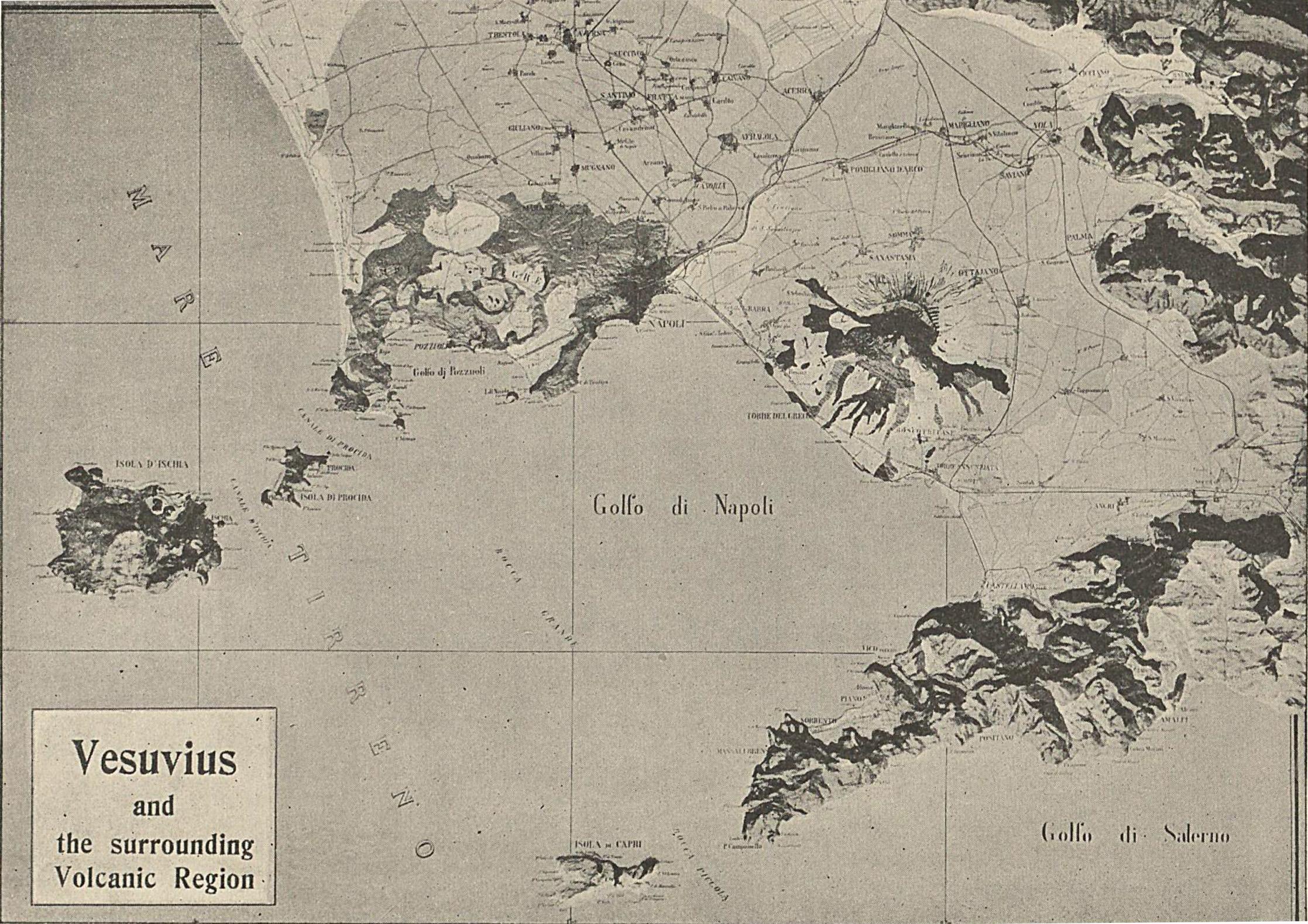 Maps Bay Of Naples - Vesuvius map